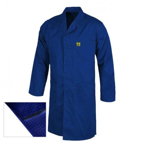 Bata azul antielectrostática