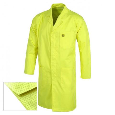 Bata antielectrostática amarilla